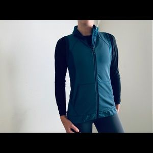 Lululemon Athletica blue vest jacket